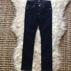 7 For All Mankind girl's dark the Skinny Jeans 10